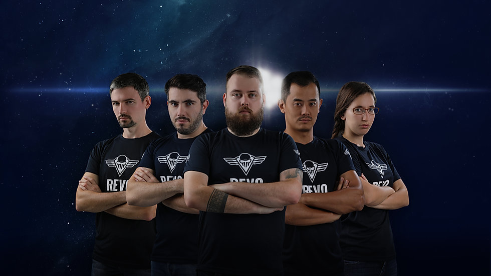 Gamers posed with arms crossed