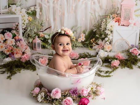 Milk Bath Milestone Session : Mary Bradley Photography : Central PA Newborn/Child Photographer