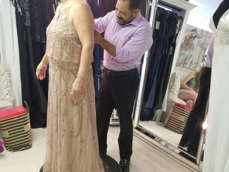 Boston bride, alterations with fashion designer Nillton  Rodrigues