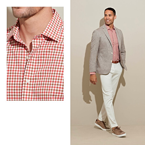 With new patterns and colors this season, your custom-made seersucker shirt is set-up for summer sunshine.