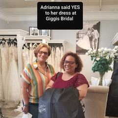 Bride Adrianna said Yes at Giggis event