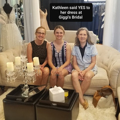Bride Kathleen said yes to her dress 5 2