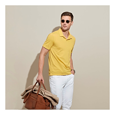 New accents colors in our summer pique knits for a custom-made style that is full of sunshine. For on and off the clock moments, our comfortable knit collection makes the perfect custom-made polo this season.