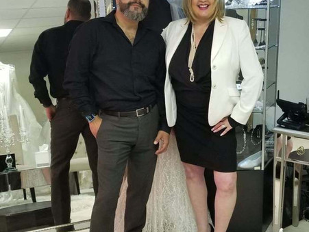 Giggi's Bridal with Fashion Designer Nillton Rodrigues