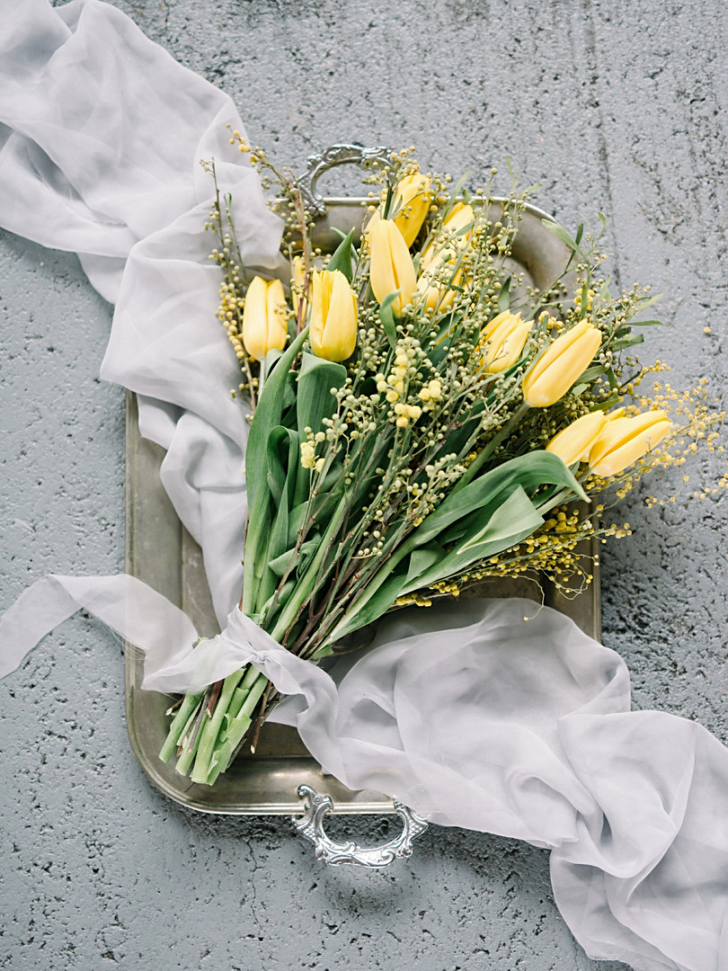 .Yellow flowers for photo shoot