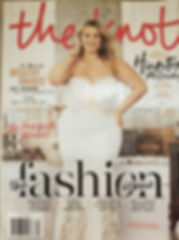 Plus size model on the cover of The Knot