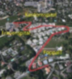 FoppaIT - Standort Bondastr. 115B, 7000 Chur (Vogelperspektive von Spitäler her)