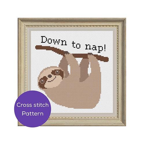 Nap Cross Stitch Pattern