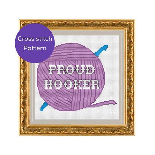 Proud Hooker Cross Stitch Pattern