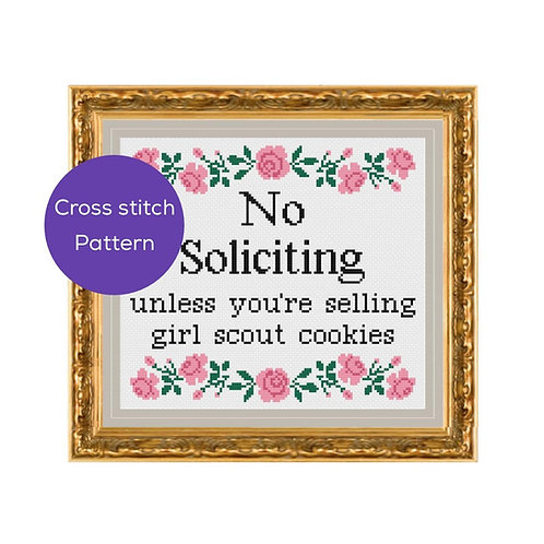 No Soliciting Cross Stitch Pattern