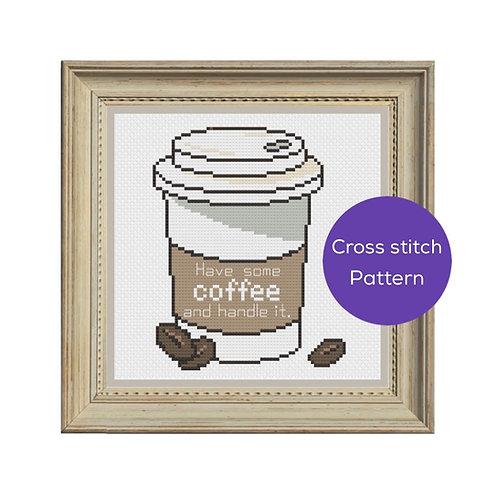 Have Some Coffee Cross-Stitch Pattern