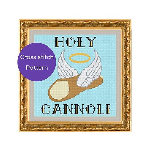 Holy Cannoli Cross Stitch Pattern