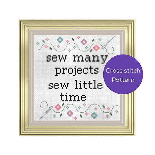 Sew Many Projects Cross Stitch Pattern
