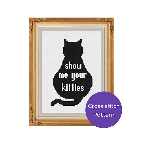Show Me Your Kitties Cross Stitch Pattern