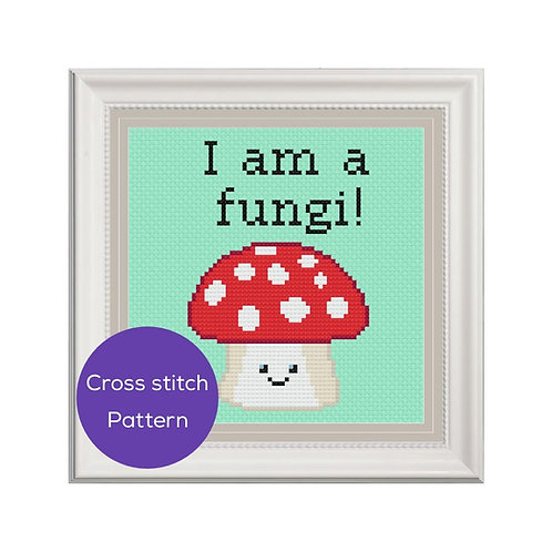I am a Fungi Cross Stitch Pattern