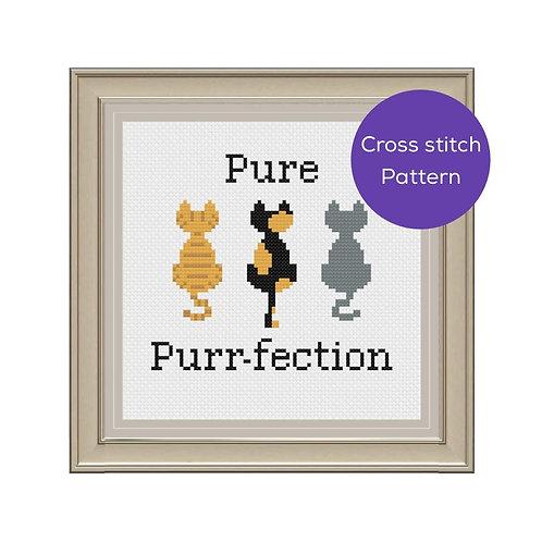 Pure Purr-fection Cross Stitch Pattern