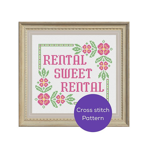Rental Sweet Rental Cross Stitch Pattern