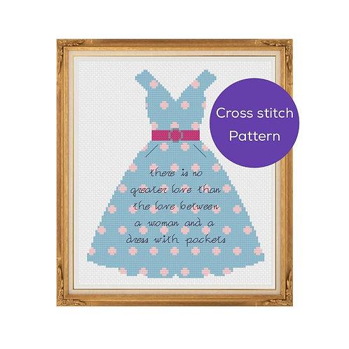 Dress with Pockets Cross-Stitch Pattern