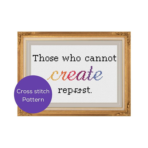Repost Cross Stitch Pattern
