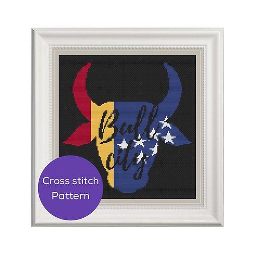 Bull City Cross Stitch Pattern