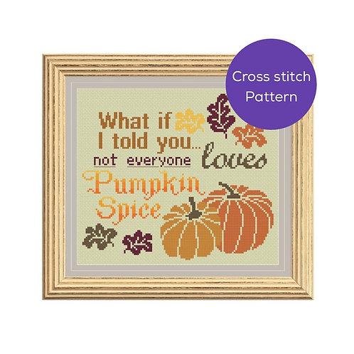Pumpkin Spice Cross Stitch Pattern