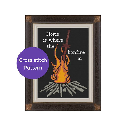 Bonfire Cross Stitch Pattern
