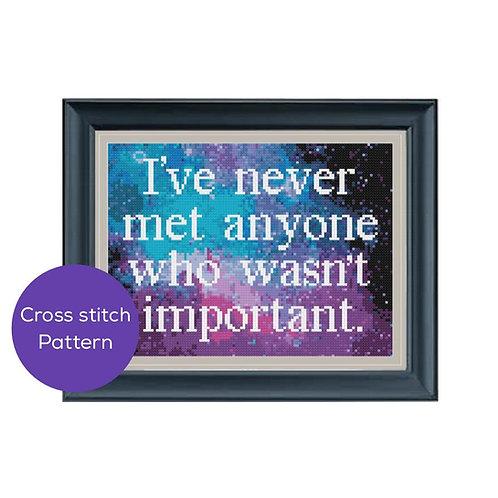 Important Cross Stitch Pattern