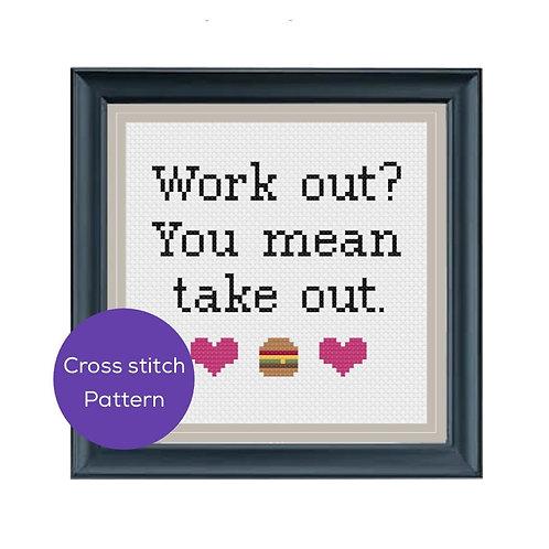 Take Out Cross Stitch Pattern