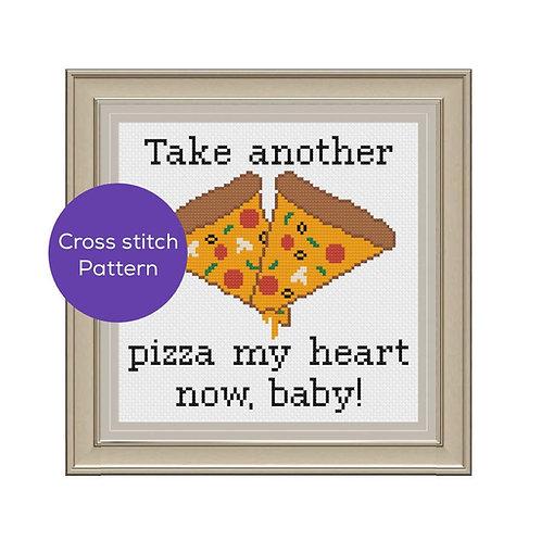 Pizza My Heart Cross-Stitch Pattern