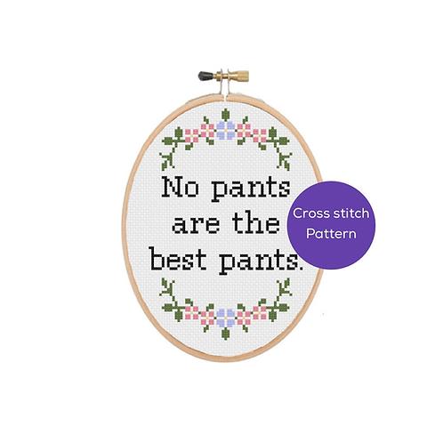 No Pants Cross Stitch Pattern