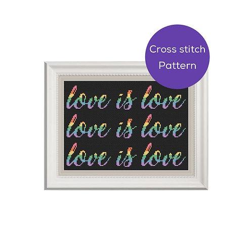 Love is Love Cross Stitch Pattern