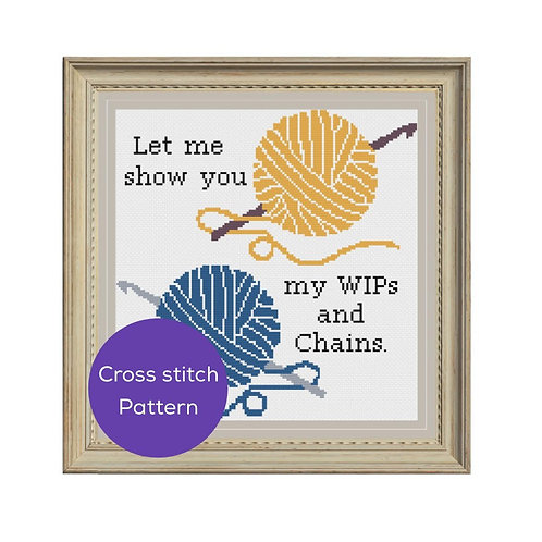 WIPs and Chains Cross Stitch Pattern