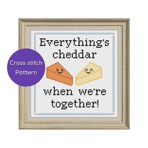 Better Cheddar Cross Stitch Pattern