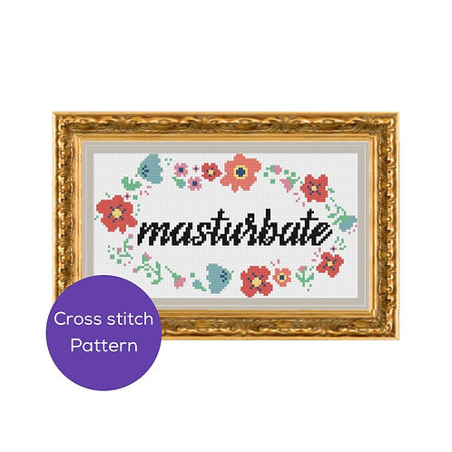 Masturbate Cross Stitch Pattern