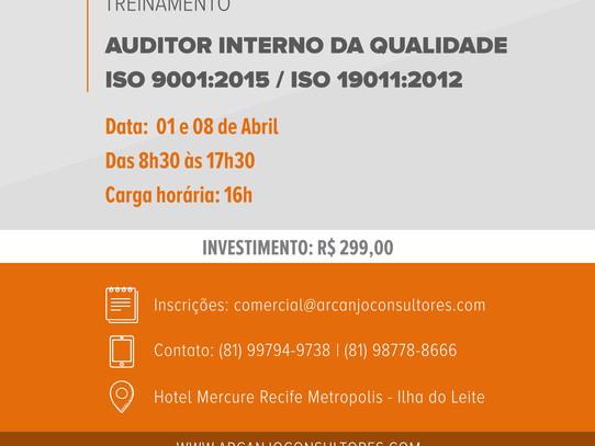 Curso de Auditor Interno da Qualidade ISO 9001:2015 & ISO 19011:2012 - Turma Abr/17
