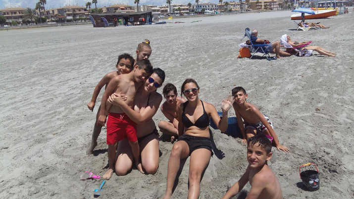 Disfruntando de la playa del Tamarit