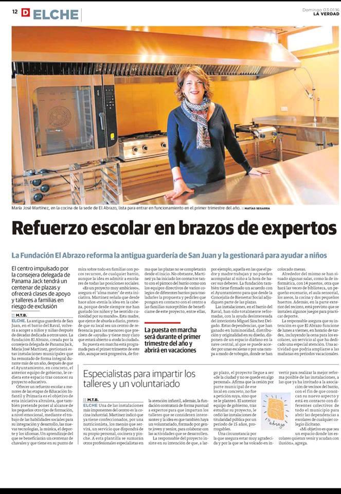 Prensa El Abrazo Elche Periódico La Verdad Fundación