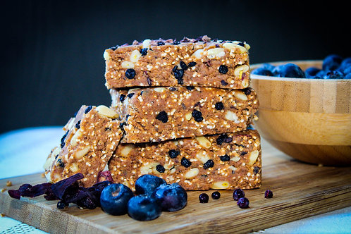 Blueberry Hibiscus Elderberry Bar (Vegan & Gluten Free) 3 Bars Per Box