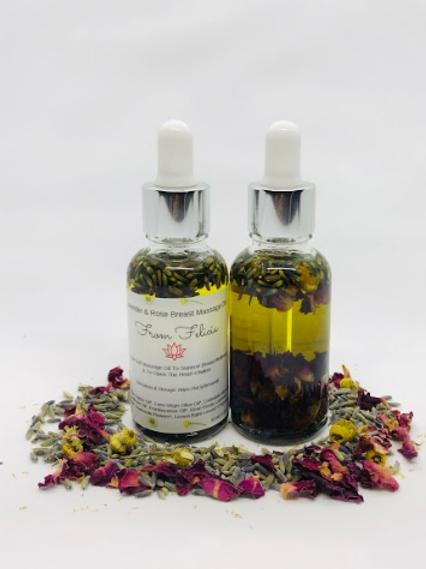 Lavender & Rose Breast Massage Oil
