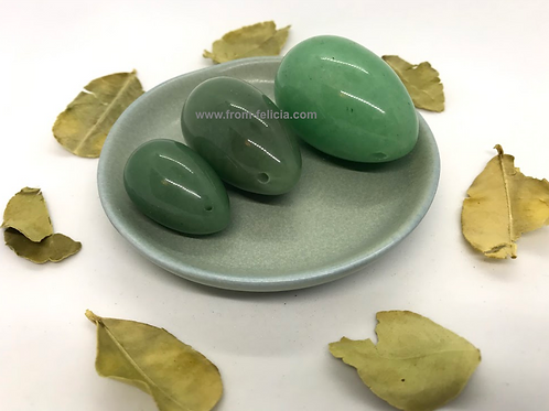 Green Aventurine (Indian Jade) Yoni Egg Set (small,medium & large)