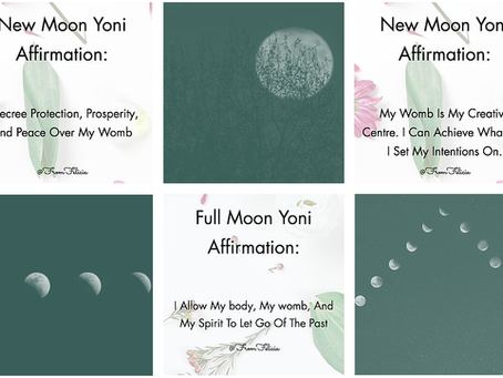 New + Full Moon Yoni Healing Affirmations