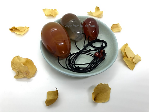 Carnelian Yoni Egg Set (small, medium & large)