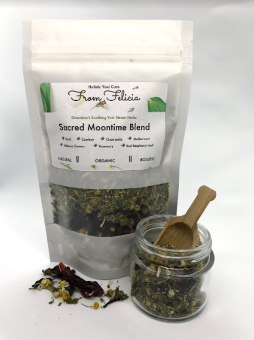 Yoni Steam Herbs: Sacred Moontime Blend (formerly painful periods & PMS blend)