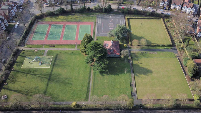 Spencer park from above
