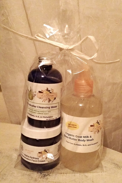 Face Time Gift Set: Face Cream, Make-up Remover, Face/Body Wash