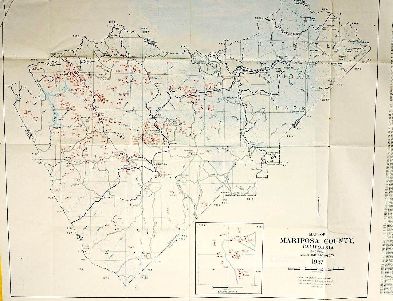 Map of Mariposa Mines | Save Ranch Lands in Mariposa County, CA