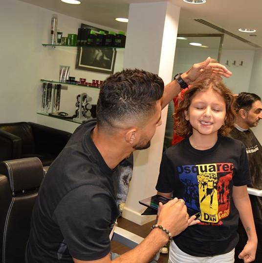 dad & soon haircut
