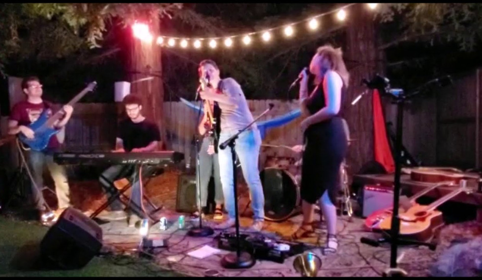 Veronica May, Becca Jay, and Lorna Such Playing The P-Court Patio