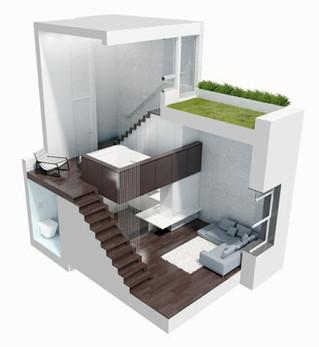 Pequeño apartamento micro Loft en Manhattan