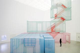 Do Ho Suh convierte el nailon en piezas de arquitectura
